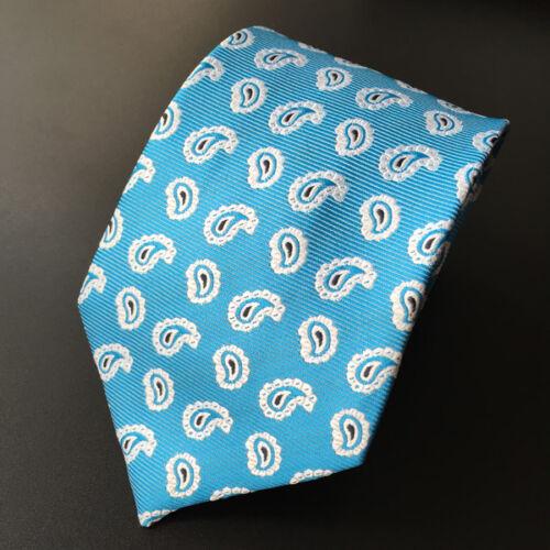 007KT jacquard mens 100/% silk neck tie male lake blue turkey party necktie ties