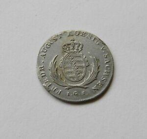 """Saxony: 1/12 Thaler 1823 """" Friedrich August"""