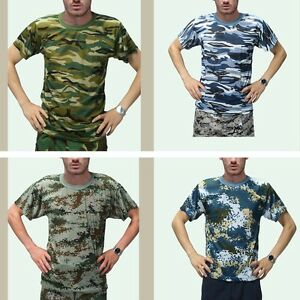 MEN-039-S-LADIE-039-S-MILITARY-T-SHIRT-ARMY-Digital-Camo-Pattern-COMBAT-CAMOUFLAGE-HOT