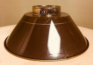 Details About Vintage Toleware Chocolate Brown Br Metal Lamp Shade 15 1 2