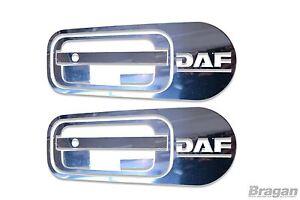 Pour-Daf-Xf-95-105-106-10pc-Porte-Poignee-Housse-Set-Inox-Acier-Chrome-Bordure