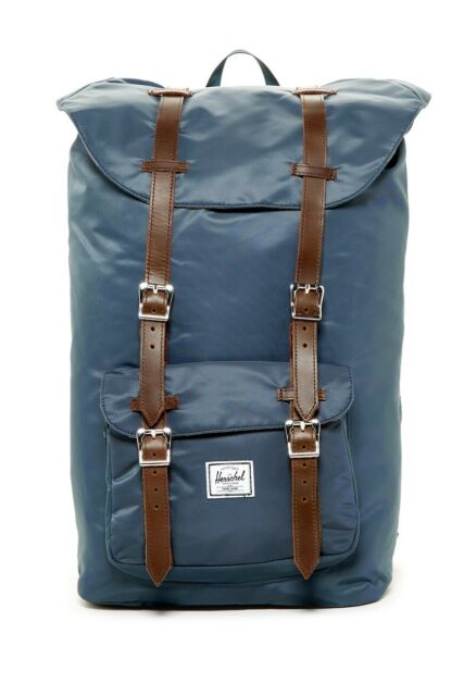 Herschel Supply Co. Mens Little America Nylon Backpack Navy One Size ... 1fa83b5c167b6