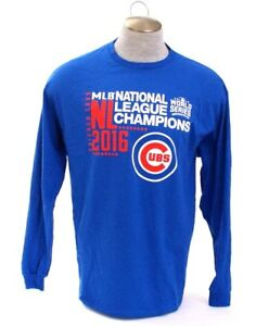 e2ea2114798 Majestic MLB Chicago Cubs Blue 2016 World Series Champions T Tee ...