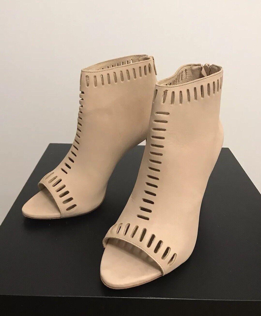 LOEFFLER RANDALL Women Leather Ankle Boot Open Toe Bootie