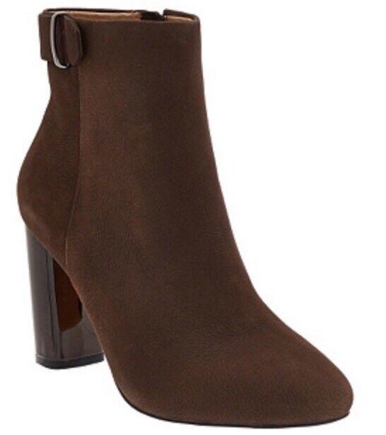 fino al 65% di sconto G.I.L.I. Leather Leather Leather Block Heel Ankle stivali - Kallie CHOCCO Dimensione 11M NIB QVC  180  prendiamo i clienti come nostro dio