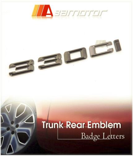 Black Chrome Trunk Boot Emblem Badge Letter 330Ci for BMW E46 E92 Coupe 3-Series
