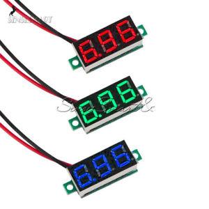 Red-Blue-Green-DC-4-7-30V-0-36-2-Wire-LED-Digital-Panel-Meter-Voltage-Voltmeter