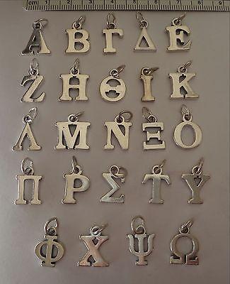 Sterling Silver Greek Alphabet Sorority Fraternity College