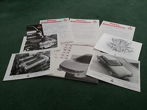 June-1988-MITSUBISHI-GALANT-1800-2000-GTi-UK-PRESS-PACK-PHOTOGRAPHS-Brochure
