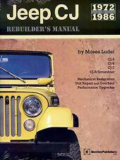 JEEP CJ REBUILDERS MANUAL BOOK RESTORATION SHOP REPAIR GUIDE 4X4 5 6 7 CJ8 72-86