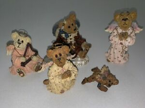 Boyds-Bear-Bearstone-Collection-Lot-of-5-Angel-Figures