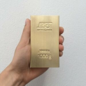 Germany-ESG-1-kg-kilo-1000-g-grams-Brass-Bar-CuZn