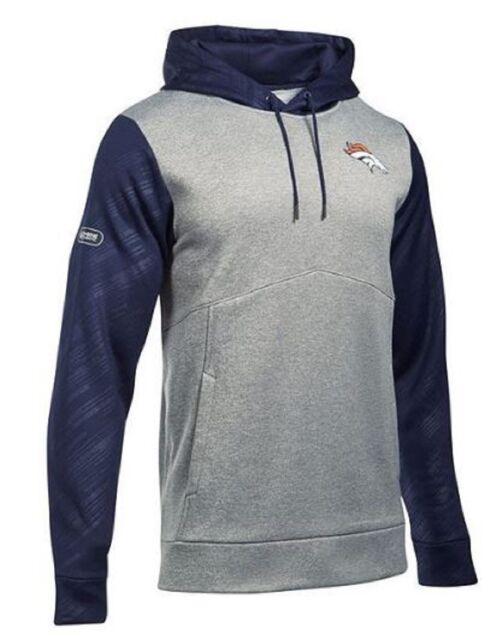 Under Armour Mens Denver Broncos Armour Fleece Hoodie Sweatshirt 1300557 XL   85 378b0f852