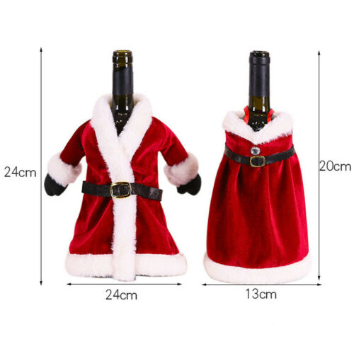 Christmas Decorations Sweater Bottles Sets Clothes Santa Claus Xmas Dress Up