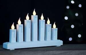 CANDELA-LED-in-legno-bianco-Bridge-Natale-Decorazione-da-Finestra-Ornamento-Di-Natale-Luce