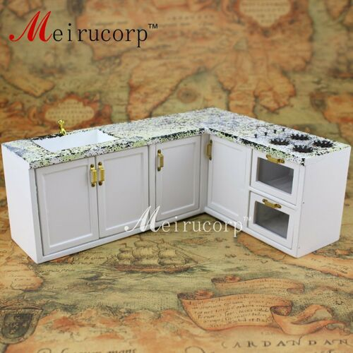Dollhouses 1//12 scale miniature furniture White kitchen sink set(marble texture)
