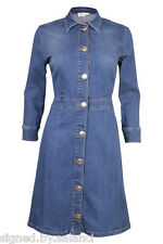 Gestuz Kyra Denim Jean Long Sleeve Button Mini Stretch Shirt Dress 40 UK 12 £139