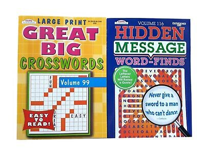 Word Search Find Crossword Puzzle Book Hidden Message Puzzles Books Set Of  2 NEW EBay