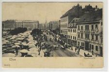 AK Wien VI, Naschmarkt, Hotel Goldenes Lamm, 1900