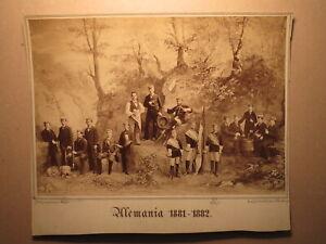 """Aimable Corps Alemannia Nuremberg - 1881-1882 - """"photo Avec Chien-photo/studentika-afficher Le Titre D'origine"""