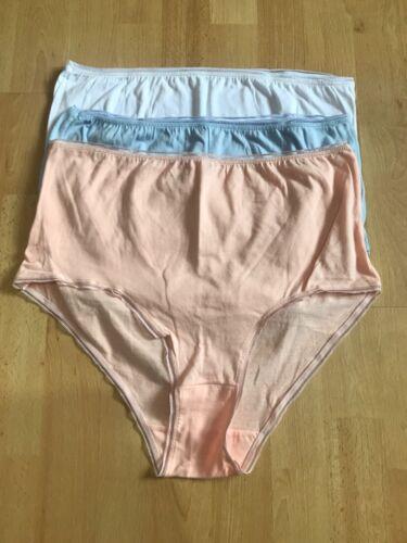 3 x pairs ladies FULL  Briefs knickers pants 3 COLOURS   cotton 16 18 DAMART