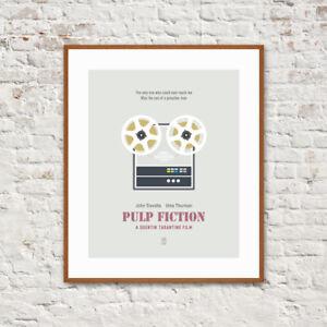 Image Is Loading Pulp Fiction Minimalist Movie Poster John Travolta Uma