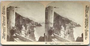 Amalfi-Convento-di-Capucins-Italia-Italia-Foto-Stereo-Vintage-Citrato