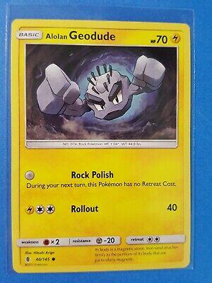 Uncommon Guardians Rising Pokemon Near Mint 41//145 4x Alolan Graveler