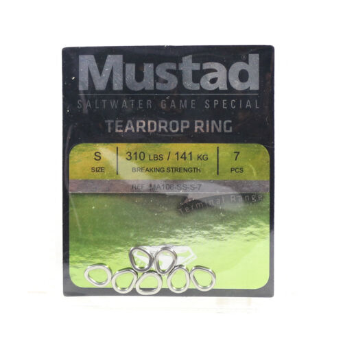 5306 Mustad Solid Ring Teardrop Size S 310Lbs 7 pieces per pack