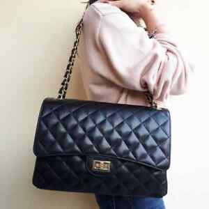 b904c50839 Caricamento dell'immagine in corso borsa-donna -in-vera-pelle-modello-CHANELLATO-XL-