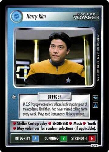 Voyager STCCG Decipher 1E Harry Kim Lightly Played Star Trek