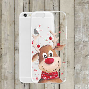 Cute-Christmas-Transparent-Slim-TPU-Back-Case-Cover-For-iPhone-X-Xs-Xr-Max-8-7