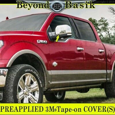 2015 2016 2017 2018 FORD F150 Triple Chrome Door Handle Covers W//o SKH+Mirrors