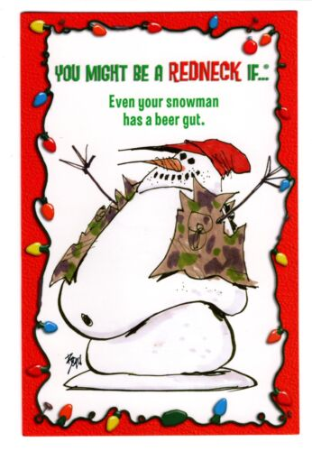 Jeff Foxworthy Might Be A Redneck SNOWMAN Christmas Greeting Card W// Envelope