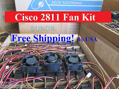Quiet version New Cisco 2811 Router power supply Fan-3 ACS-2811-FAN-3= by Delta