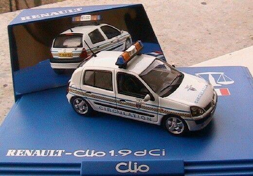 RENAULT CLIO 1.9 DCI  POLICE CIRCULATION 2002 NOREV 1 43 gps BOITE AVEC MIROIR