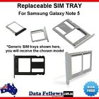 Sim Card Tray Holder For Samsung Galaxy Note 5 Spare Part Replacement Gold Grey
