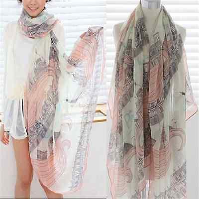Wild Sweet Long Print Cotton Women Ladies Soft Scarf Wrap Shawl Warm Scarves FT0