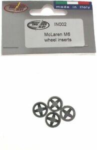THUNDER SLOT IN002 MCLAREN M6 WHEELS INSERTS NEW 1//32 SLOT CAR PART
