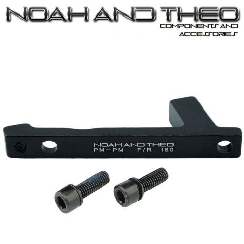 Ultralight Disque De Frein Adaptateur arrière 180 mm Post PM Cadre pour Poster PM ETRIER NOIR
