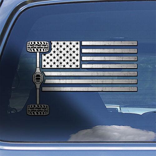 USA Flag 4x4 Off Road Decal Sticker American flag truck SUV mud bogging sticker
