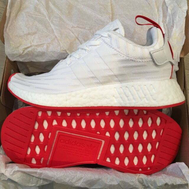 brand new 1549a 440bf adidas NMD R2 Primeknit Shoes Men s White