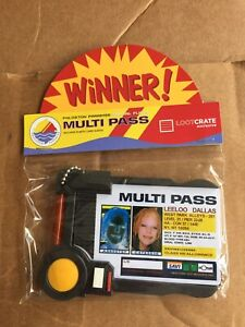 Loot Crate Exclusive The Fifth Element Leeloo Dallas Multi Pass multipass
