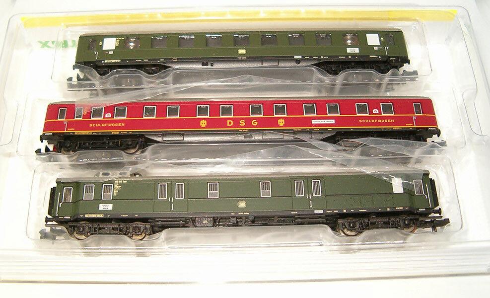 Minitrix pista n 15729 set 3 x schnellzugwagen DB OVP