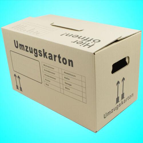5 Stück Umzugskartons Umzug Kartons Umzugskisten mit doppelter Boden STABIL NEU