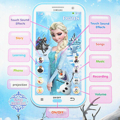 Fun Cute Frozen Figures Educational Learning Mobile Phone Kids Children Baby Toy