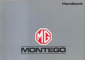 MG-Montego-amp-Montego-Turbo-1988-Original-UK-Owner-039-s-Handbook-Pub-No-AKM-6281