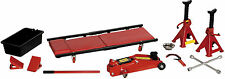 10 Piece 2 Tonne Hydraulic Trolley Jack, Axel Stand, Chock Ultimate Car Lift Kit