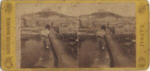 Napoli-Italia-Sommer-Foto-Stereo-Stereoview-Vintage-Albumina-Ca-1870