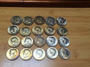 Kennedy Half Dollar Roll 40/% Silver 20 Coins 1965-1969